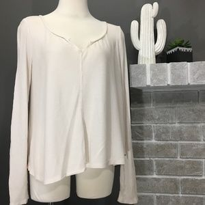 American eagle soft and sexy waffle long sleeve